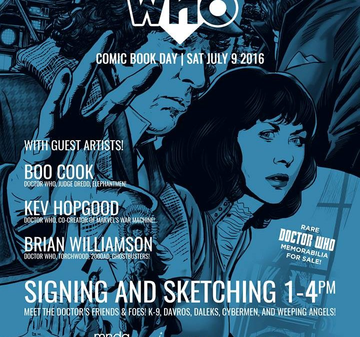 Dr Who signing – Scorch Comics Eastbourne