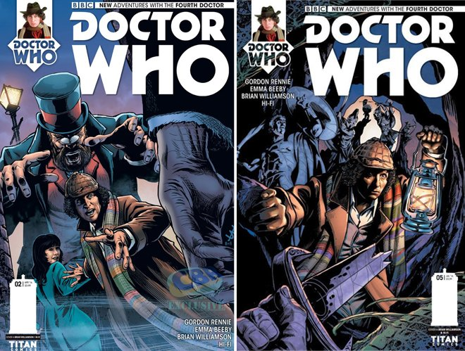 Doctor Who tom Baker brian williamson comic book artist