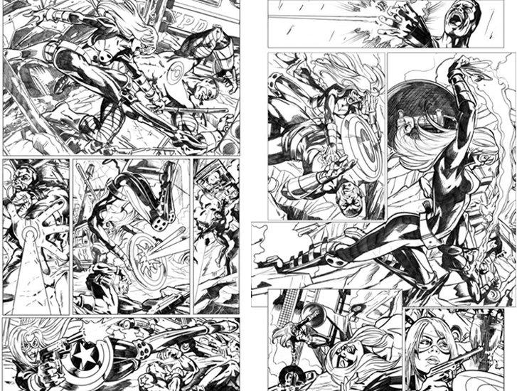 New Avengers Pencils