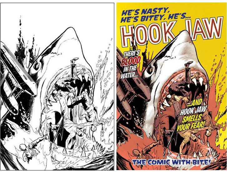 Hook Jaw cover - brian williamson comic book artist