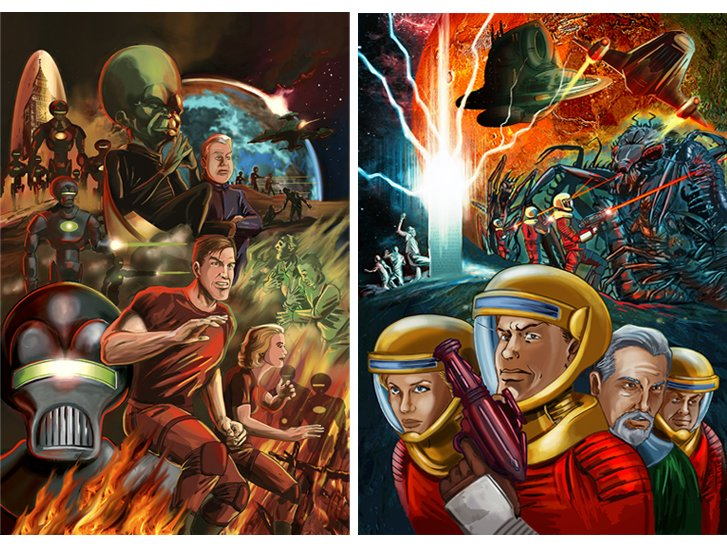 Dan Dare posters brian williamson comic book artist